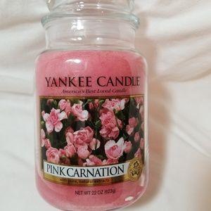Yankee Candle Large PINK CARNATION 22 oz Pink